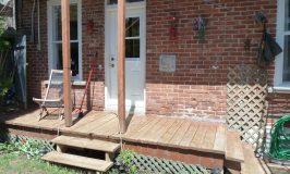 Notre patio avant / après