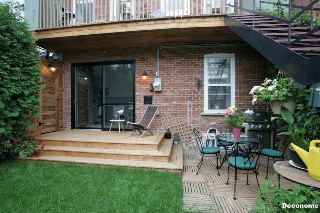 patio bois traité brun pas cher