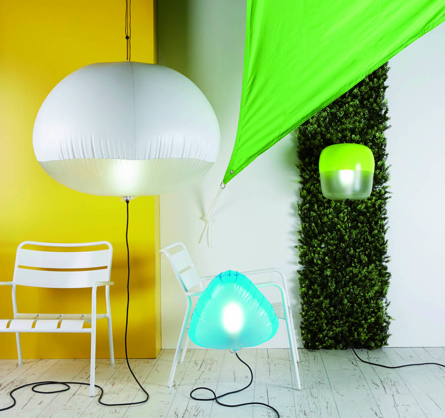 Luminaire gonflable