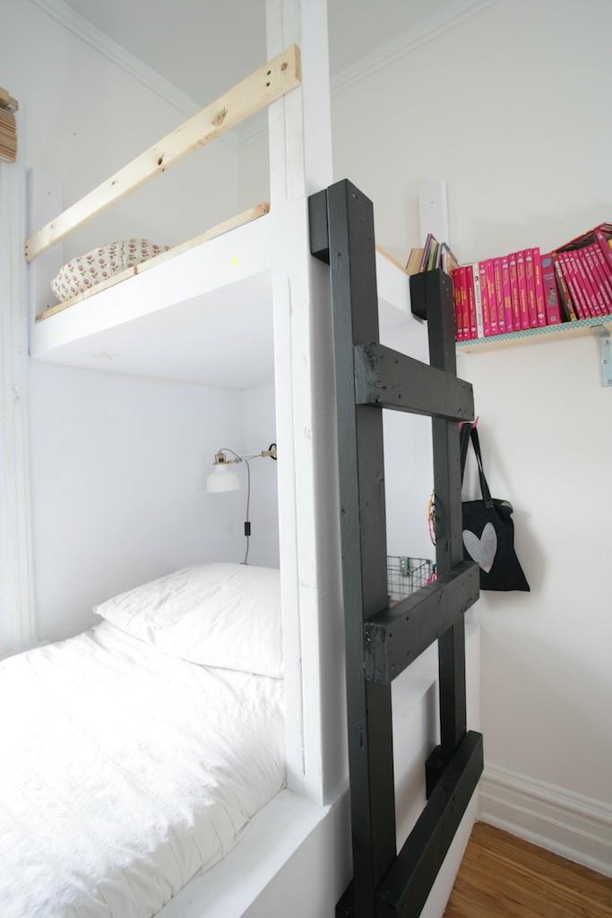 lit cabane en hauteur chambre fille 9 ans
