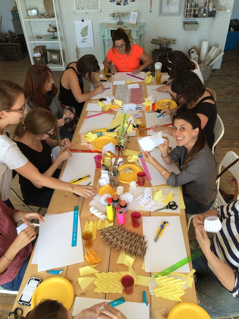 atelier origami pliage lampe Baba Souk