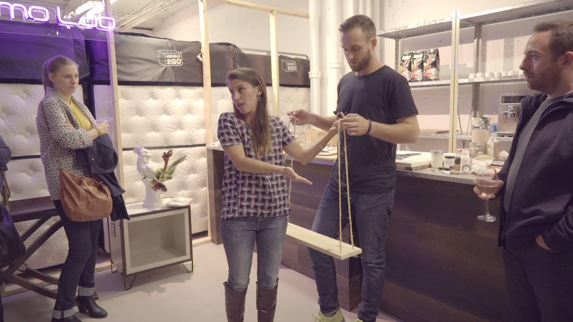 DIY étagère suspendue par des cordes