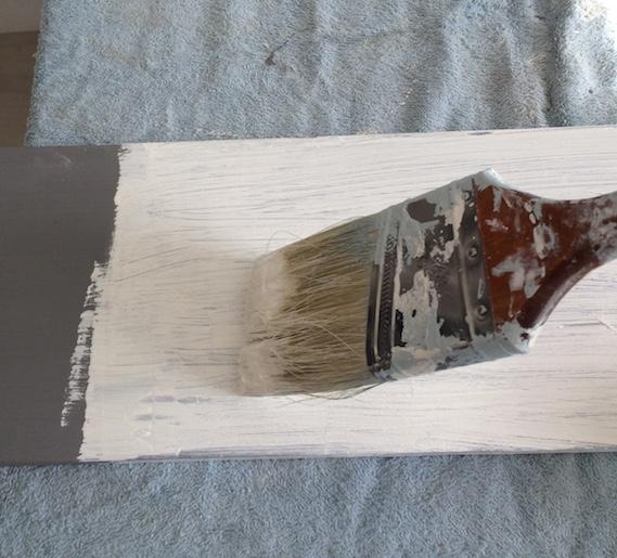DIY faux fini planche pin