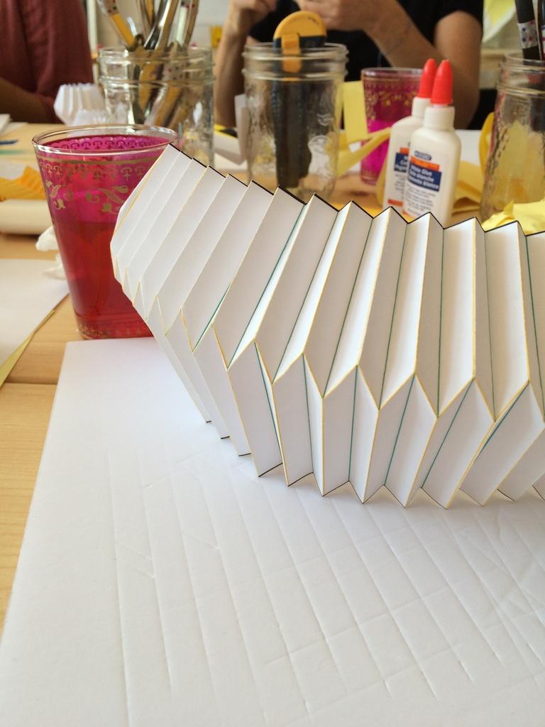 pliage lampe origami