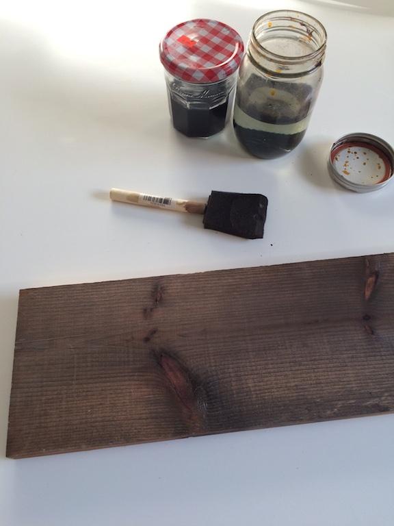 vieillir planche pin solution oxydante