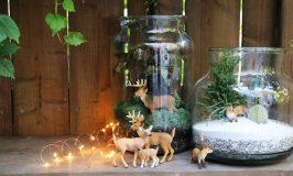 Petites déco d'hiver avec des figurines d'animaux