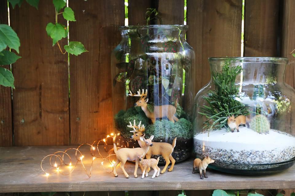 Winter christmas terrarium / petites figurines pour déco d'hiver