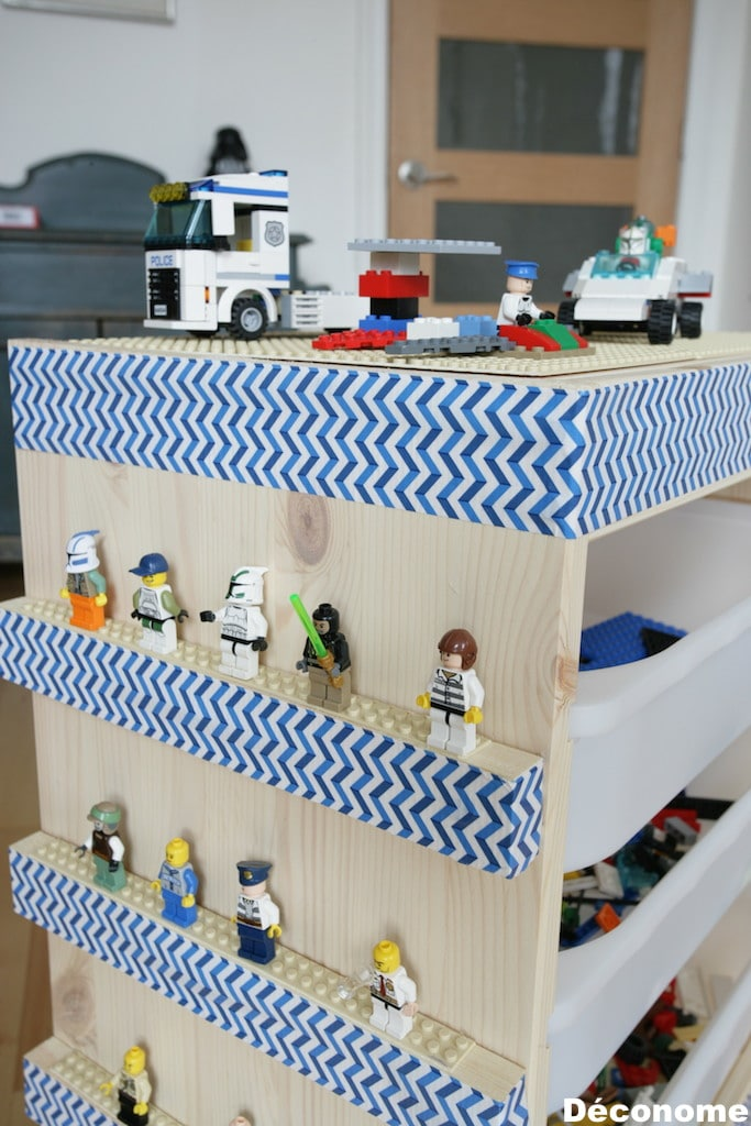 ikea hack table lego shelves étagère