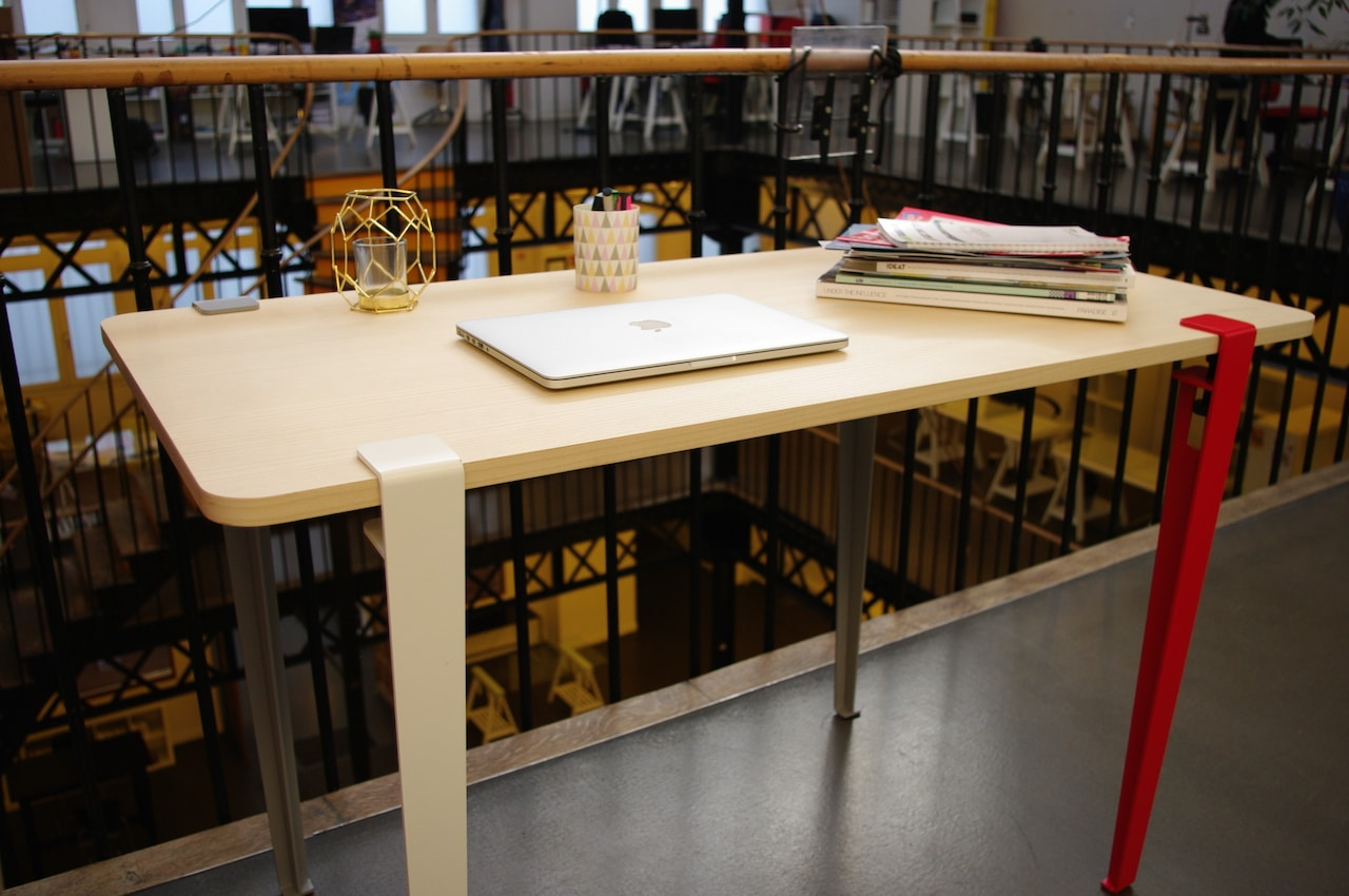 bureau pied tiptoe DIY vis pietement modulaire