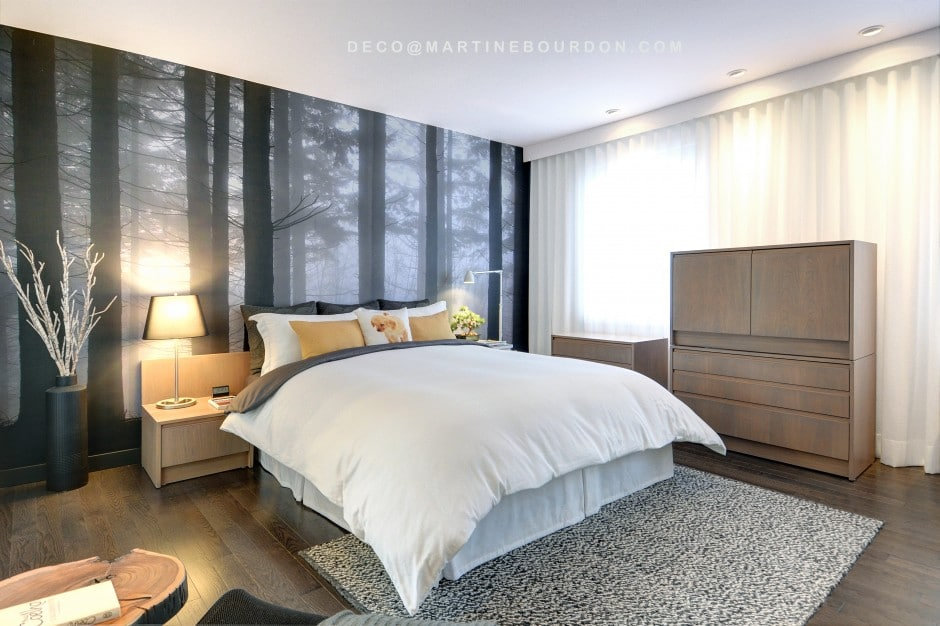 Crdit photo martine bourdon with decoration chambres a - Deco chambre a coucher adulte ...