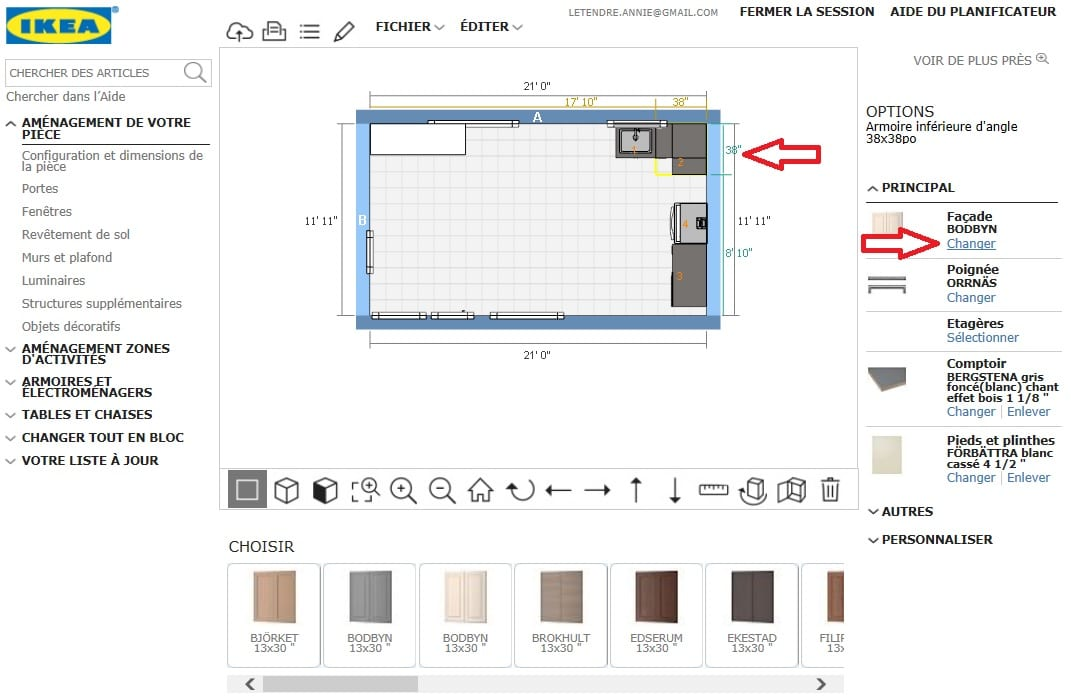 Utilisation planificateur IKEA