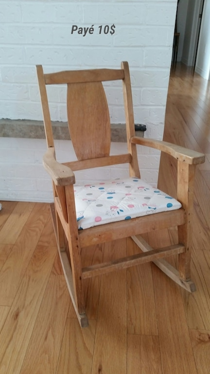 chaise berçante avant