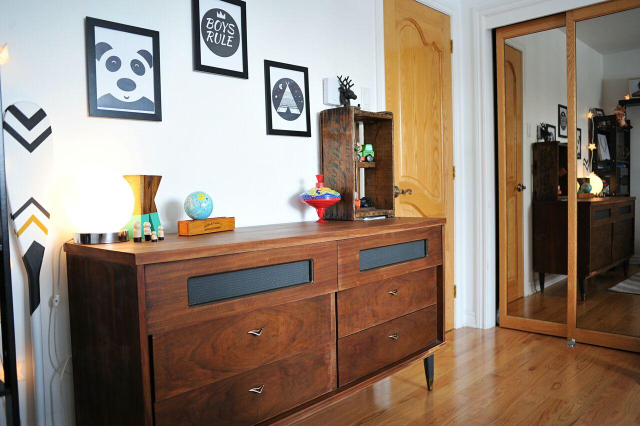 Avant / après: une chambre de bébé vintage bohème...avec un tipi ...
