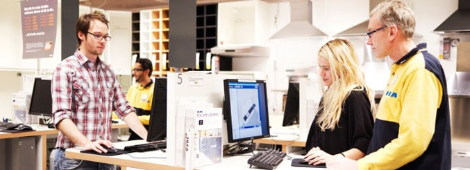 dessiner cuisine IKEA en magasin