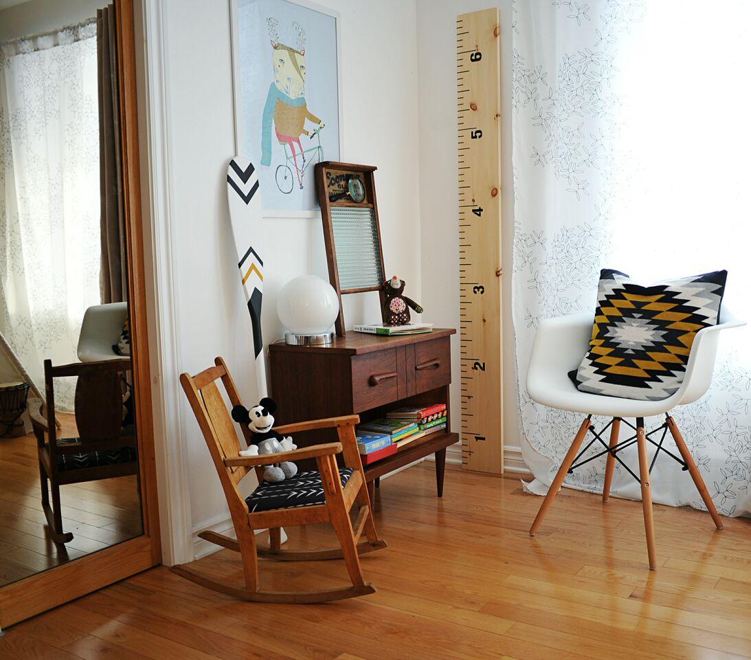 Échelle en bois chambre de bébé