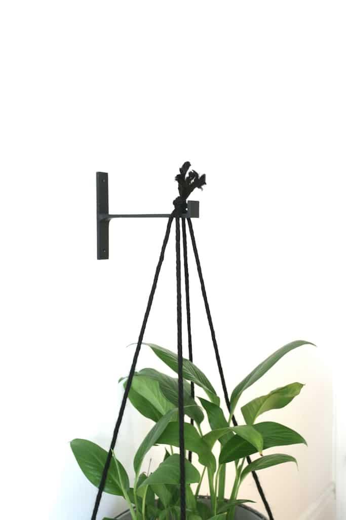 Plante support fonte noir / T Shaped cast iron bracket for a planter