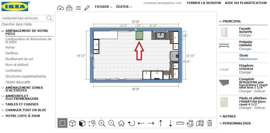 Utiliser le planificateur IKEA exemple
