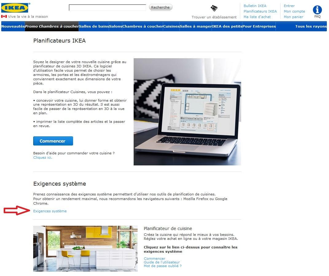 Utiliser planificateur IKEA
