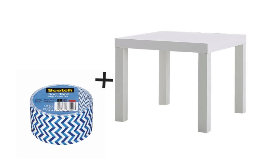IKEA Hack Lack table and duct tape / Relooking de table Lack Ikea avec du duct tape - scotch
