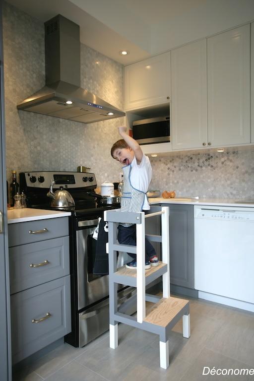 Fabriquer un tabouret de cuisine pour enfant d conome - Taboret de cuisine ...