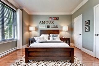 chambre à coucher mots en bois