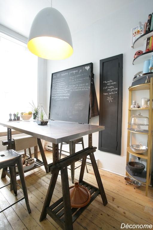 cuisine antique peinte avec de la peinture dorée Ralph Lauren / Old kitchen painted with gold paint