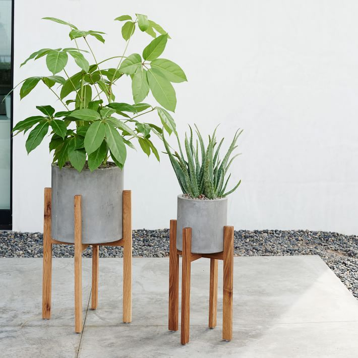 Inspirations pour un ext rieur de style scandinave d conome for Pot de plante design