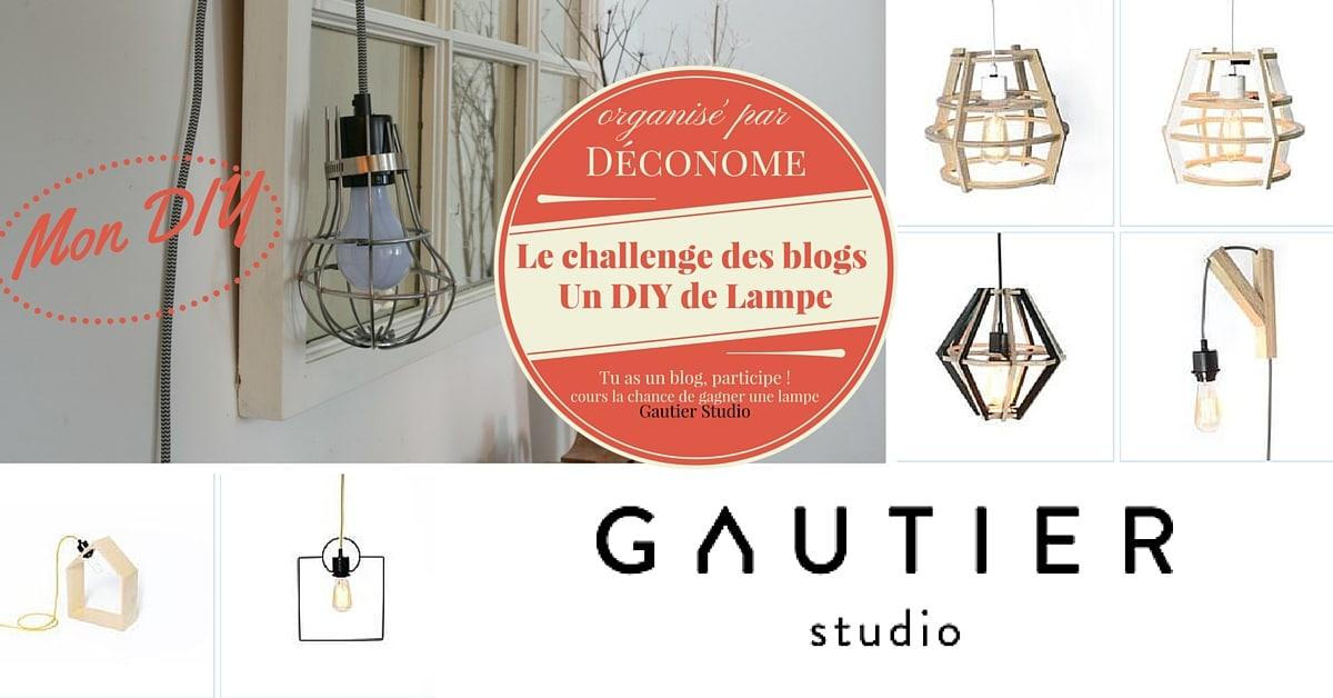 concours challenge blog DIY lampe Déconome