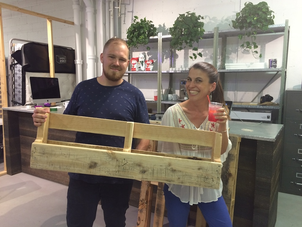 Déconome atelier DIY meuble2Go transformation palettes en meubles