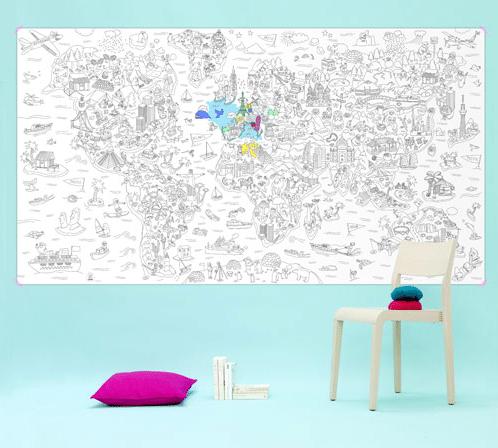 Décoclico - poster monde à colorier - 15.92 Euros