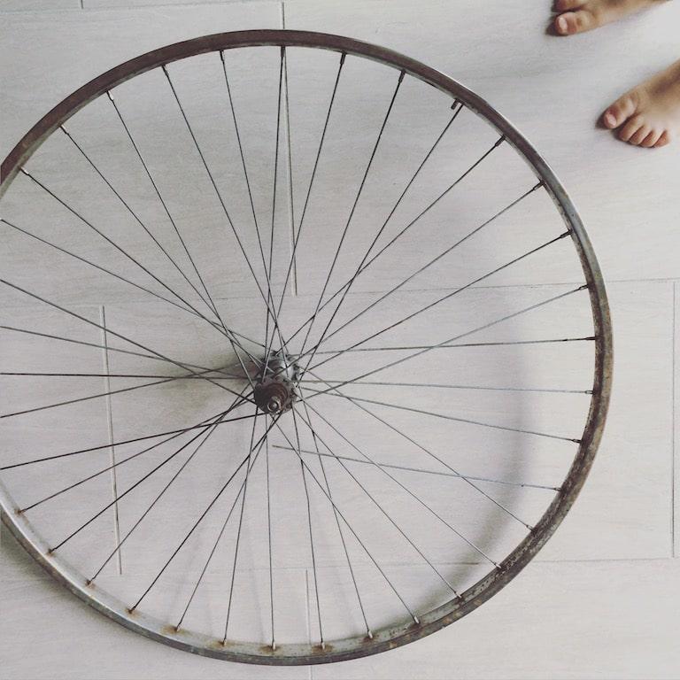 DIY roue de vélo