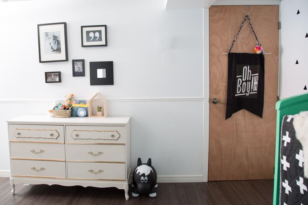 Une chambre de bébé garçon d\'inspiration scandinave - Déconome