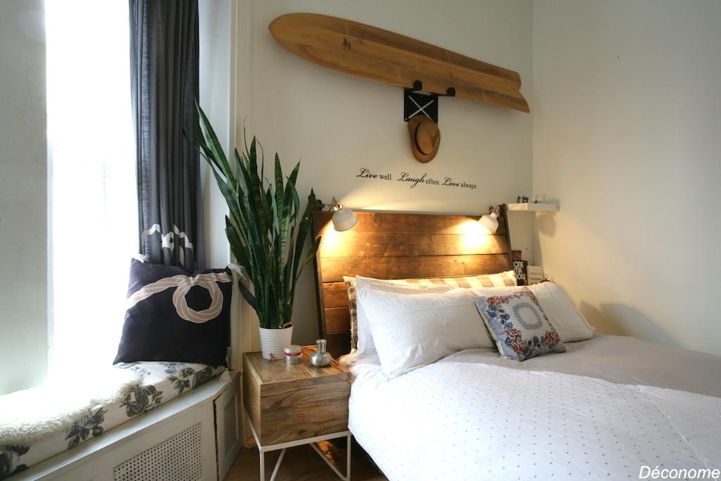 Une chambre à coucher de style californien  Déconome