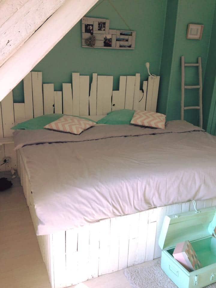 DIY lit en palettes avec tiroir intégré / DIY palett bed with drawer
