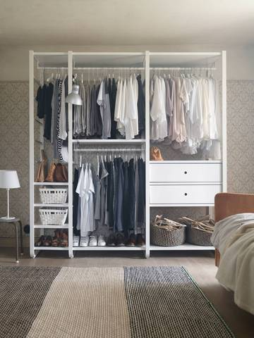 walk-in dressing ouvert chambre