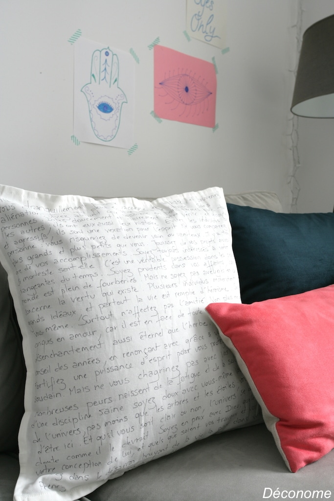 dessiner au marqueur sharpie sur un coussin / how to create your own pillow with sharpie markers