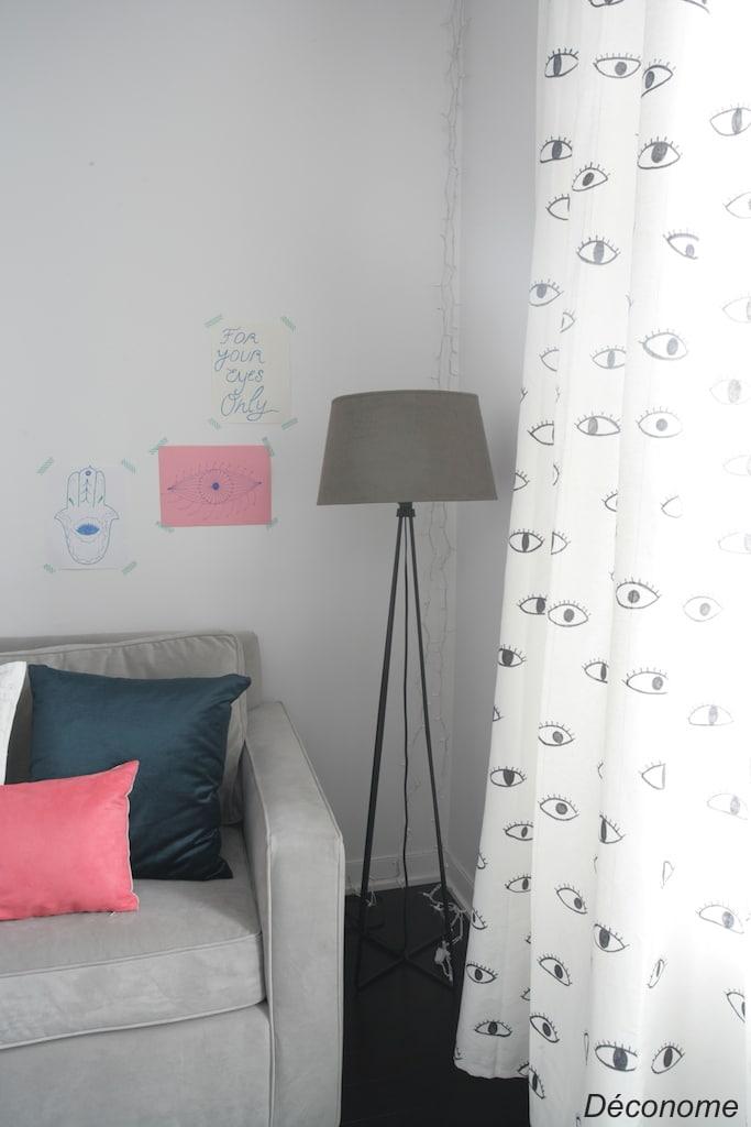 personnaliser ses rideaux avec des marqueurs sharpie / customize your drapes with sharpie markers