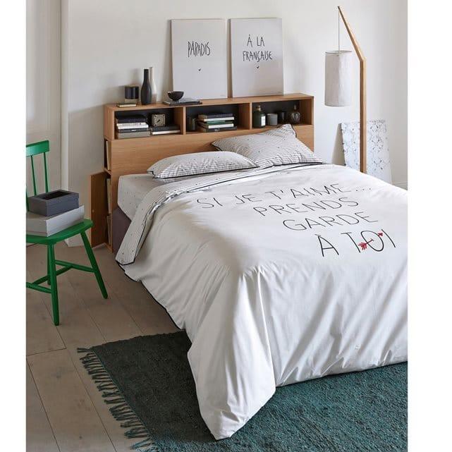 Les meilleures id es gain de place dans la chambre d conome - Tete de lit bibliotheque ...