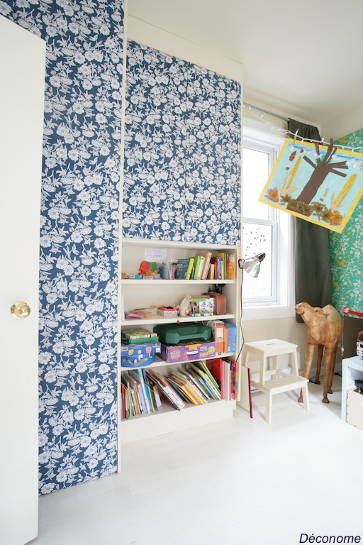 Recouvrir portes avec du tissu dans chambre d'enfants / kid's room with doors covered with fabric