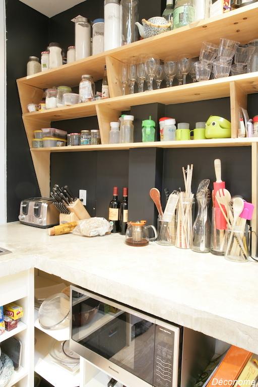 fabriquer des étagères ouvertes dans la cuisine