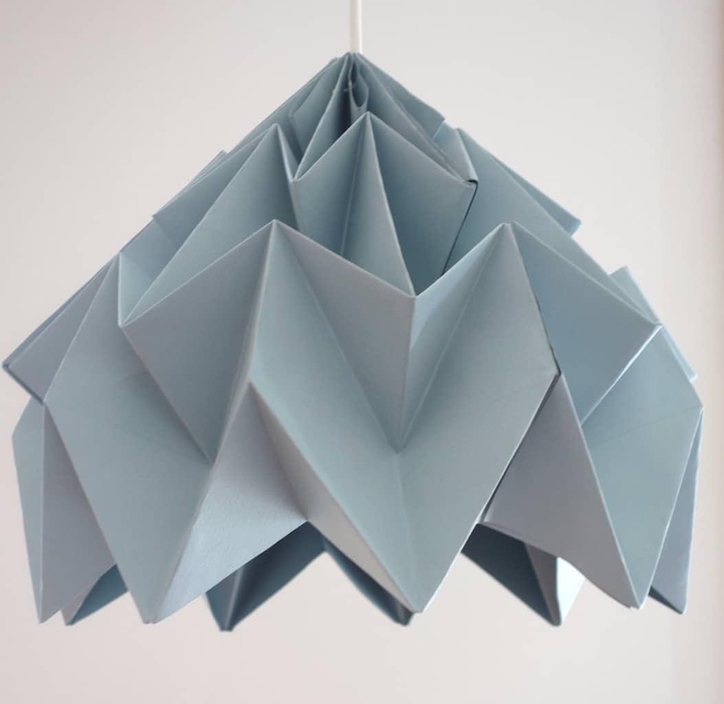 fabriquer un abat-jour en origami