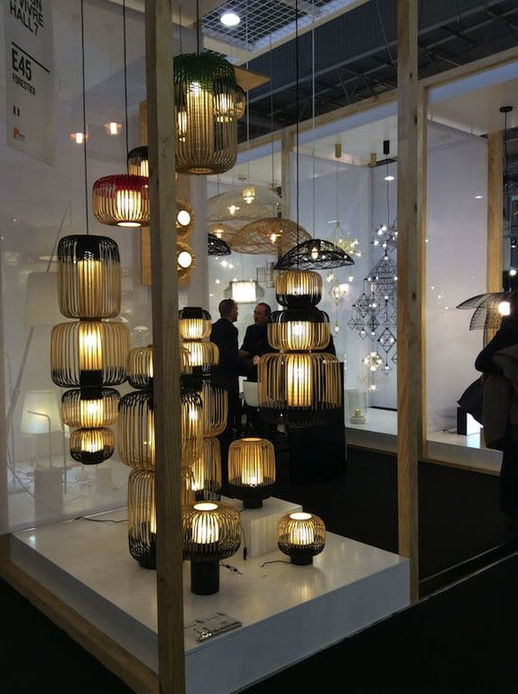 jolies lampes en bois plié de chez Forestier