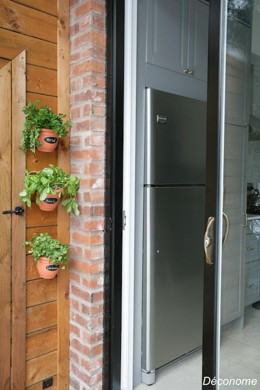 jardin vertical de fines herbes / vertical herb garden
