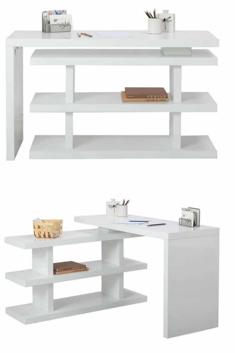 bureau etagere pivotant / swivel desk
