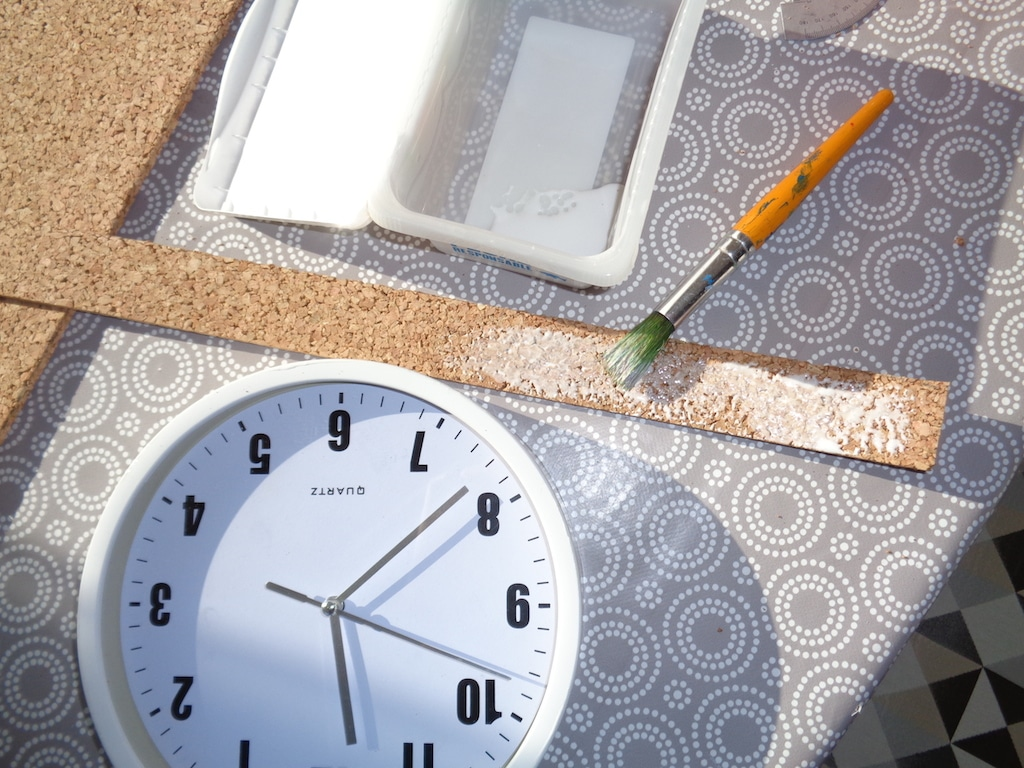 horloge liège / DIY Cork clock