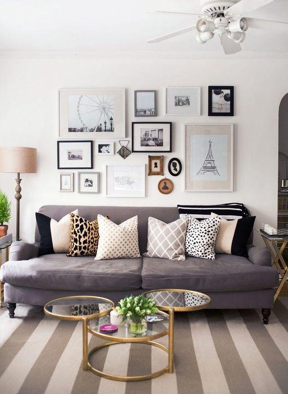 comment faire un beau mur de cadres d conome. Black Bedroom Furniture Sets. Home Design Ideas