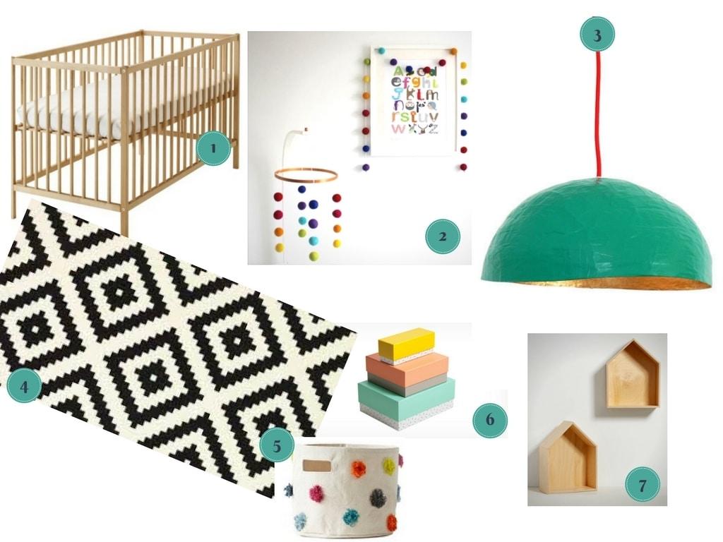 idées déco pour une chambre de bébé unisexe colorée 1 / decoration ideas for a nursery full of colors