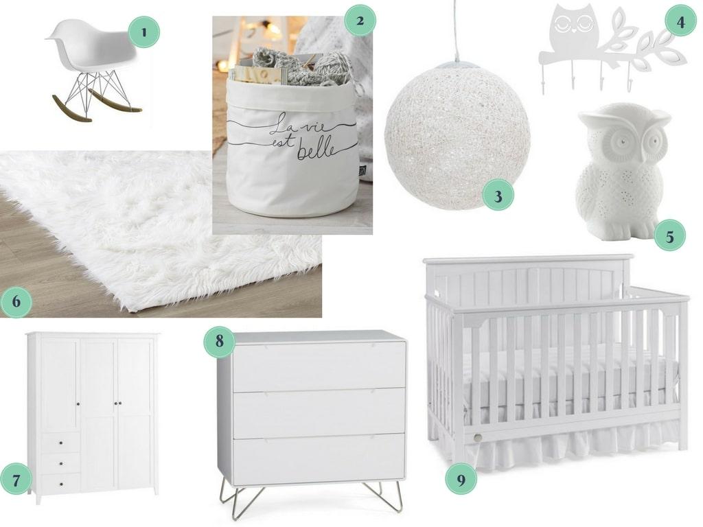 inspiration chambre bébé épurée blanche unisexe / white nursery