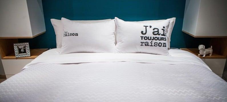 taie d'oreiller j'ai toujours raison - une touche d'humour dans la chambre à coucher