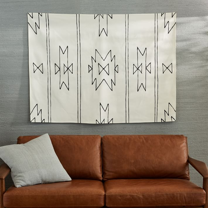Dessin facile à faire style navajo tenture / DIY simple and trendy tapestry